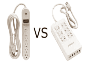 difference between surge protector and power strip